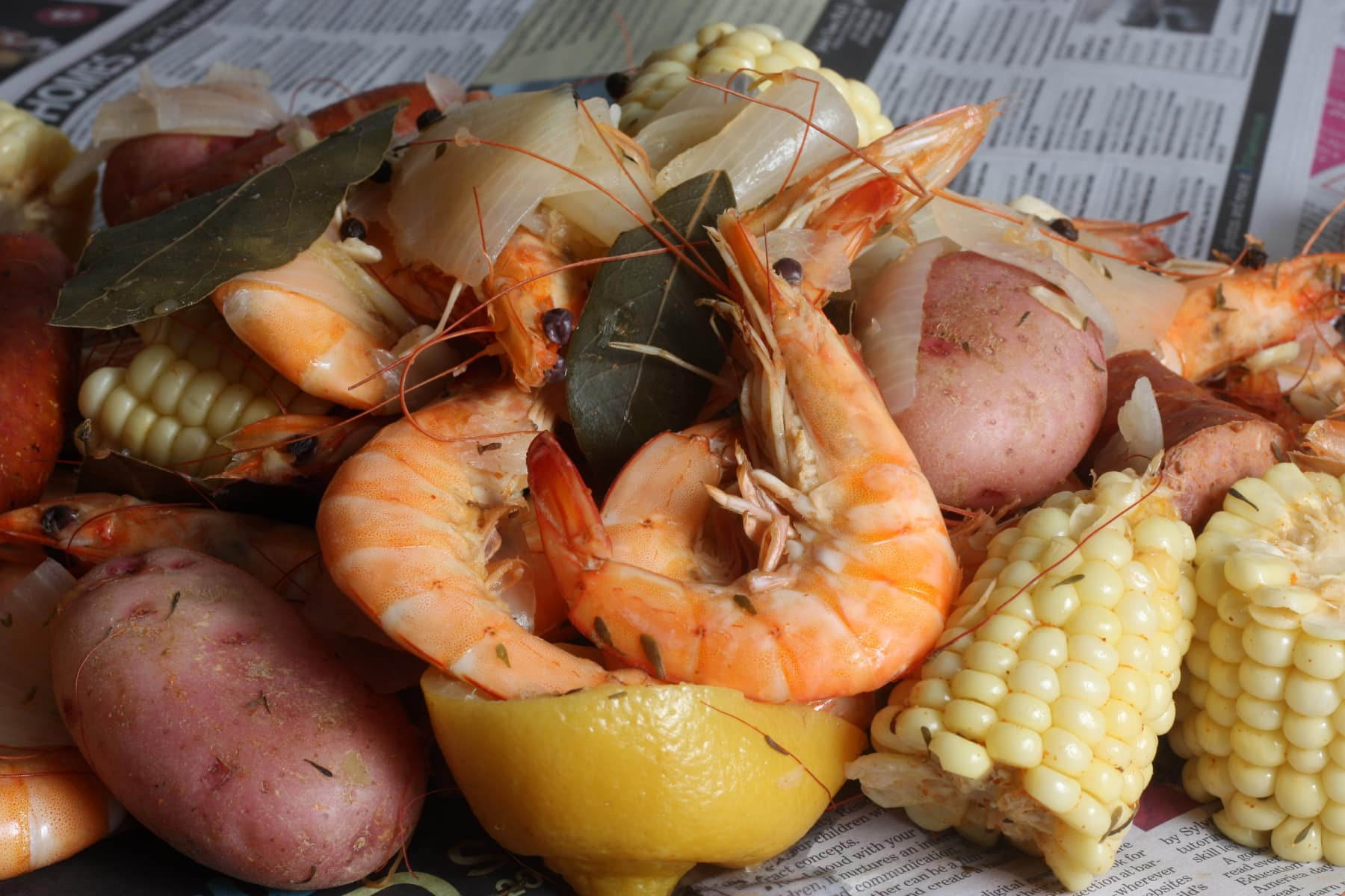 Shrimp Boil for Two.  Photo by Libby Truesdell.