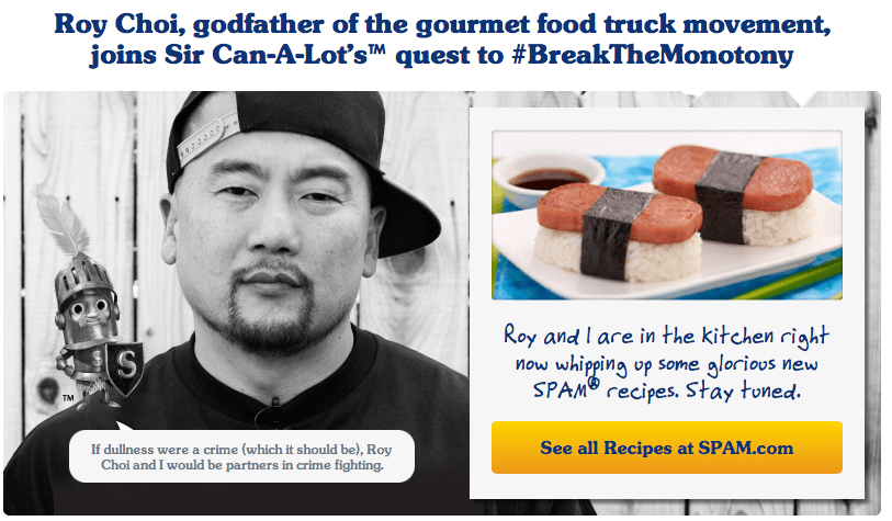 Roy Choi and SPAM